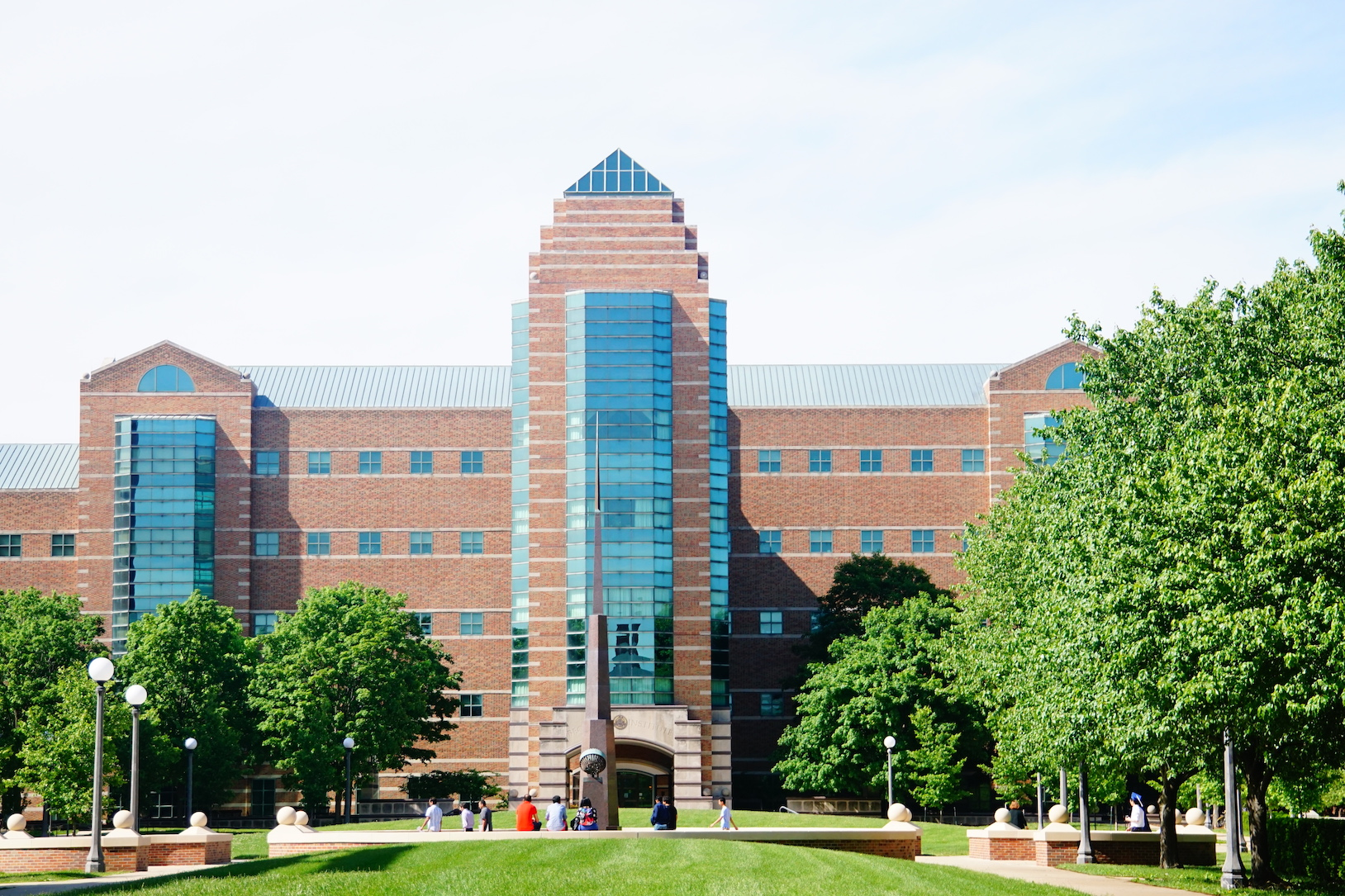 Beckman Institute as seen from the Engineering Quad